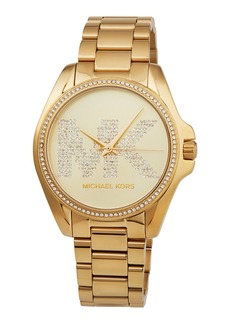 MICHAEL Michael Kors Bradshaw Yellow-Golden Logo Bracelet Watch