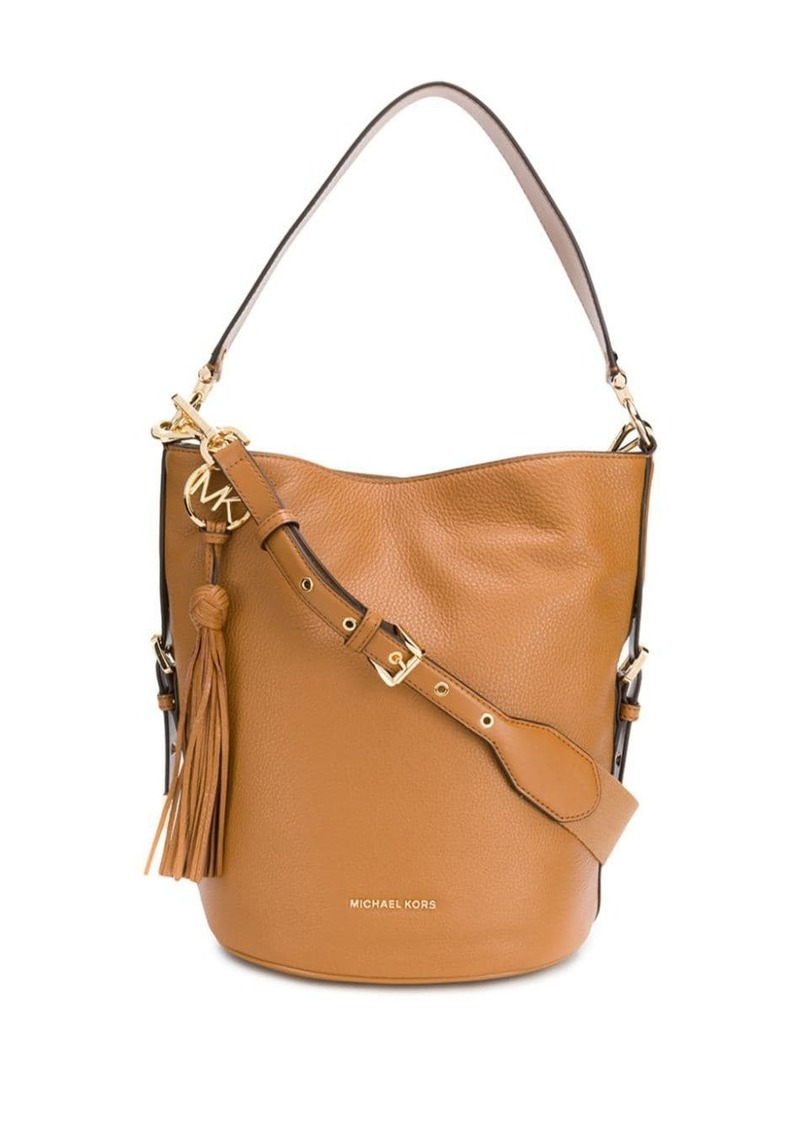 MICHAEL Michael Kors brooke pebbled bucket bag