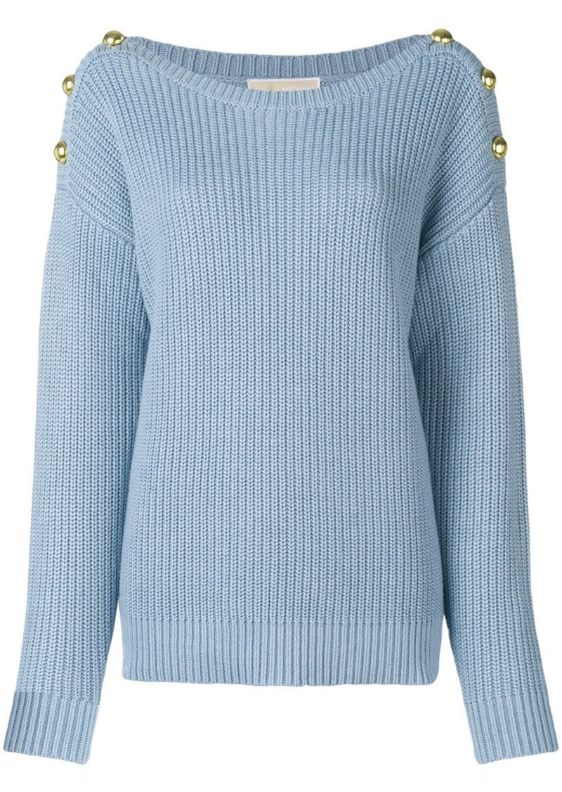 3dc059e32fc5 On Sale today! MICHAEL Michael Kors button embellished sweater