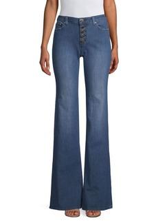 MICHAEL Michael Kors Button-Front Flare Jeans