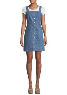 MICHAEL Michael Kors Button-Front Sleeveless Denim Dress