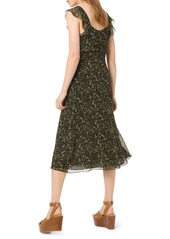 MICHAEL Michael Kors Camo Butterflies Sleeveless A-Line Dress