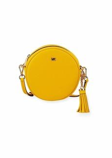 MICHAEL Michael Kors Canteen Medium Round Leather Crossbody Bag - Golden Hardware