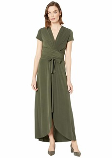 MICHAEL Michael Kors Cap Sleeve Maxi Wrap Dress