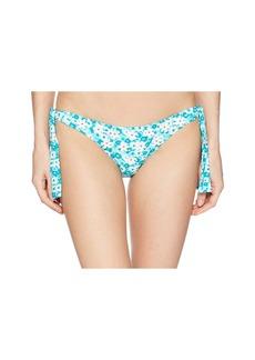 Carnations Side Tie Bikini Bottom w/ 3D Flower