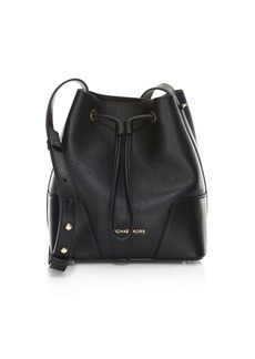 MICHAEL Michael Kors Carysm Leather Bucket Bag