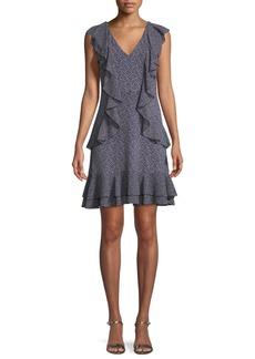 MICHAEL Michael Kors Cascade-Ruffle Shift Mini Dress