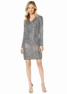 MICHAEL Michael Kors Catty Foil Cowl Back Dress