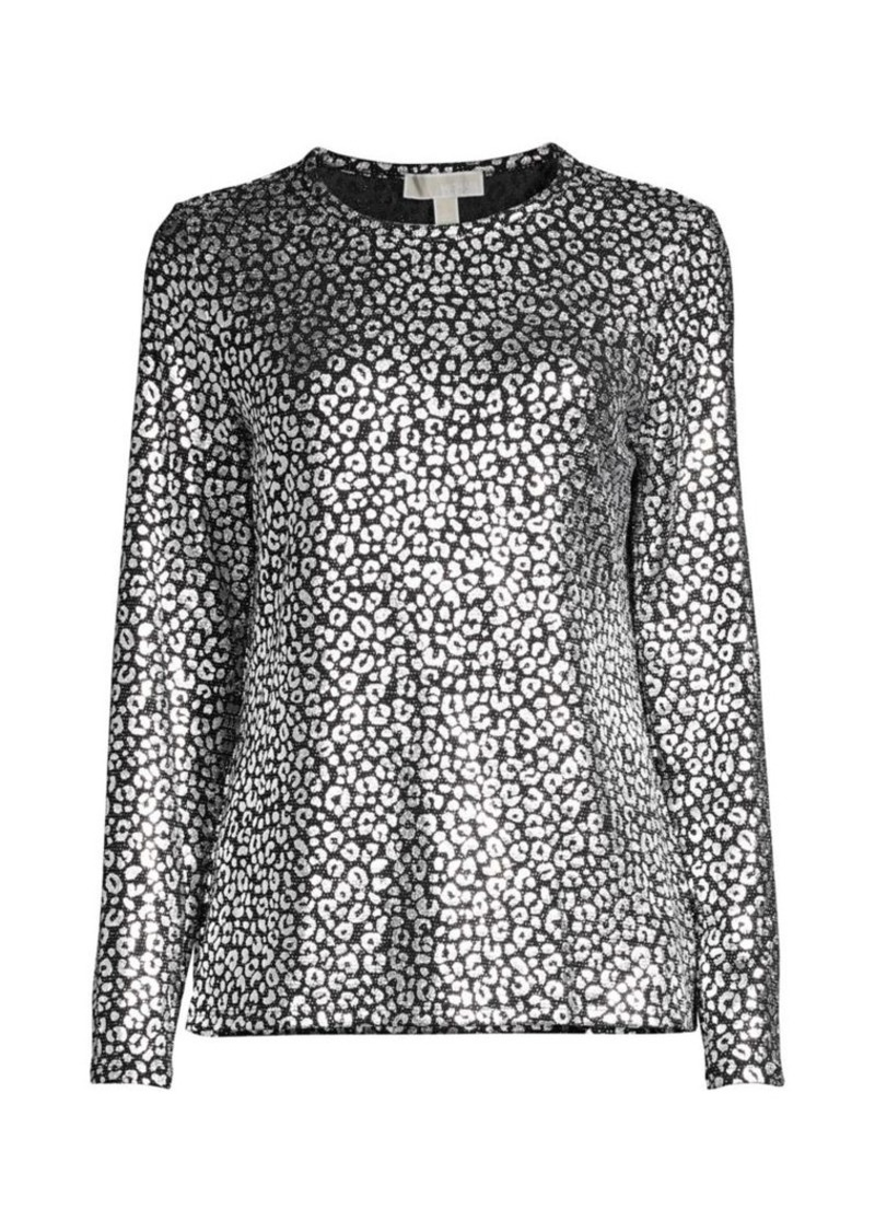 MICHAEL Michael Kors Catty Foil Print Top