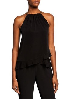 MICHAEL Michael Kors Chain-Neck Halter Top