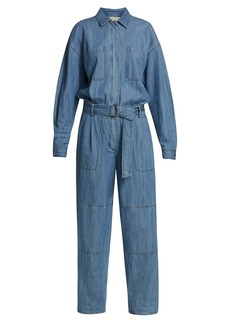 MICHAEL Michael Kors Chambray Belted Jumpsuit