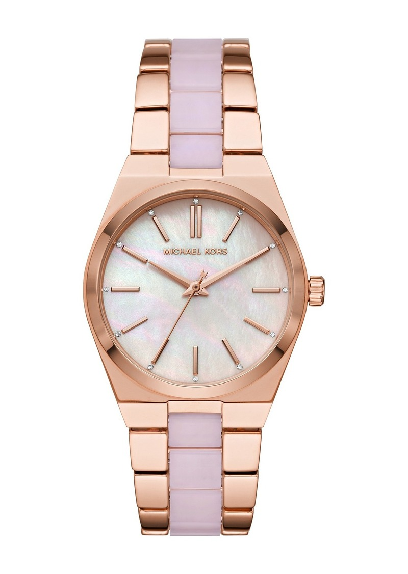 MICHAEL Michael Kors Channing Rose Gold Two-Tone Watch, 36mm