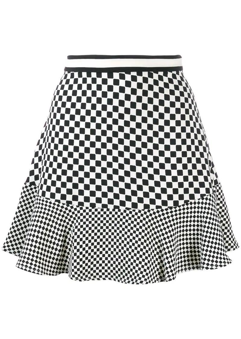 MICHAEL Michael Kors check print A-line skirt