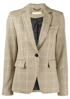 MICHAEL Michael Kors check-print single breasted blazer