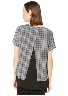 MICHAEL Michael Kors Cheeky Check Short Sleeve Top