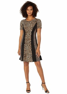 MICHAEL Michael Kors Cheetah Combo Dress