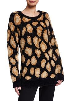 MICHAEL Michael Kors Cheetah Jacquard Sweater