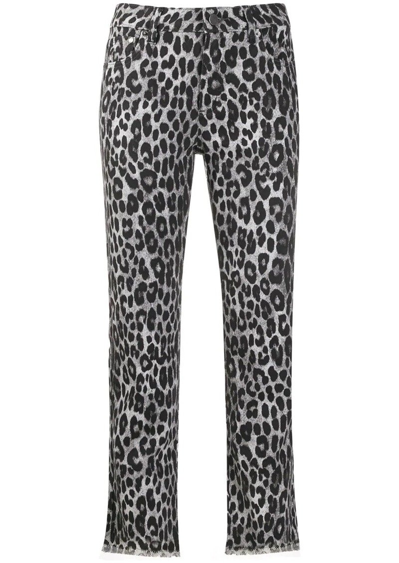 MICHAEL Michael Kors cheetah pattern cropped trousers