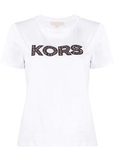 MICHAEL Michael Kors cheetah print logo T-shirt