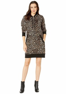 MICHAEL Michael Kors Cheetah Print Sweater Dress