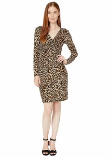 MICHAEL Michael Kors Cheetah Ruched Dress