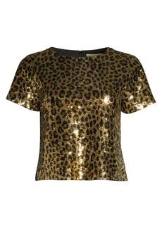 MICHAEL Michael Kors Cheetah Sequin Crop Top