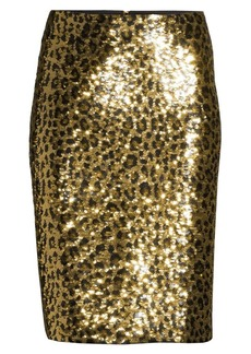 MICHAEL Michael Kors Cheetah Sequin Pencil Skirt