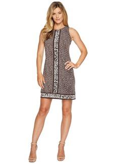 MICHAEL Michael Kors Cheetah Sleeveless Border Dress