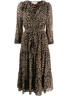 MICHAEL Michael Kors Cheetah tied dress