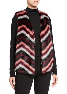 MICHAEL Michael Kors Chevron Faux Fur Vest