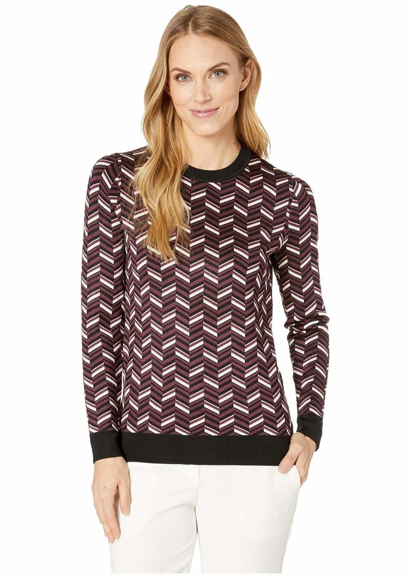 d5a6251cb MICHAEL Michael Kors Chevron Jacquard Long Sleeve Sweater