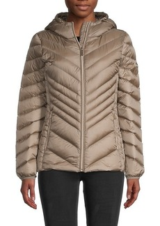 MICHAEL Michael Kors Chevron-Quilted Down-Fill Jacket