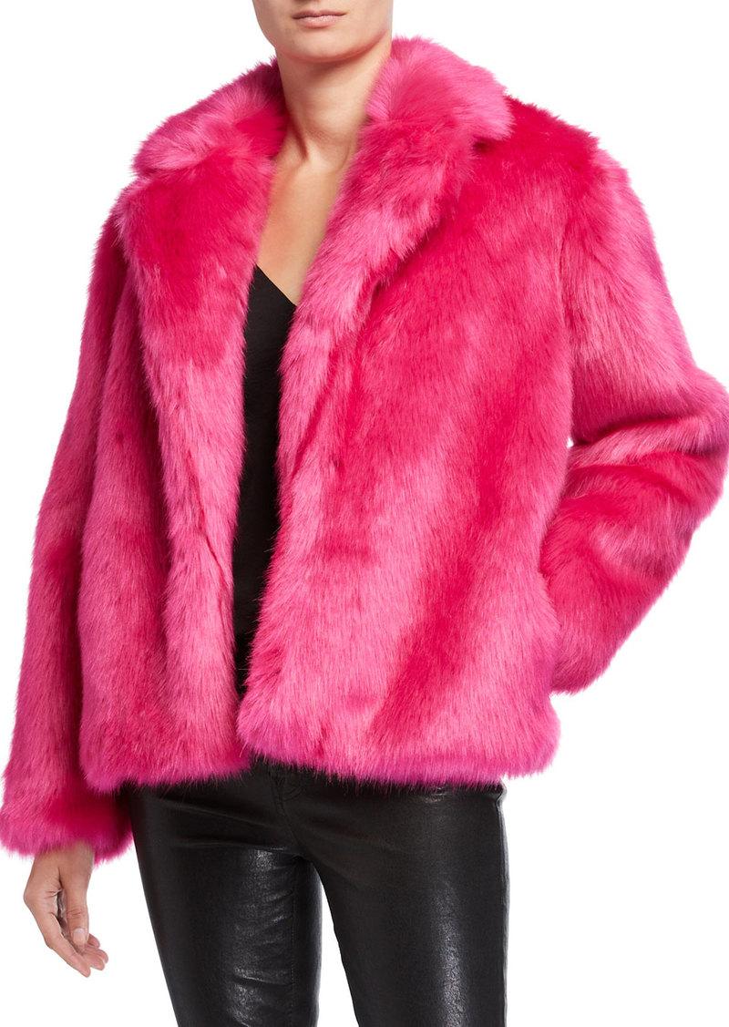 MICHAEL Michael Kors Chubby Faux Fur Open Jacket
