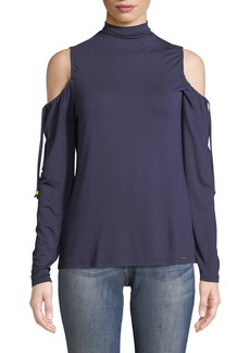 MICHAEL Michael Kors Cold-Shoulder Long-Sleeve Tee