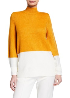 MICHAEL Michael Kors Colorblock Mock-Neck Sweater
