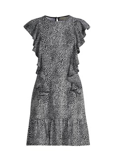 MICHAEL Michael Kors Combination Snake-Print Dress