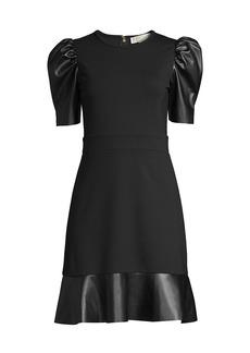 MICHAEL Michael Kors Contrast Puff-Sleeve Dress