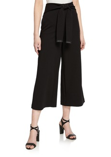 MICHAEL Michael Kors Crepe Wide-Leg Crop Pants