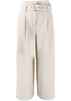 MICHAEL Michael Kors cropped belted trousers