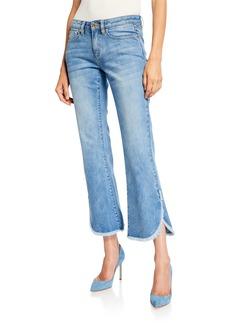 MICHAEL Michael Kors Cropped Denim Flare Jeans