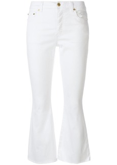 MICHAEL Michael Kors cropped kick-flared trousers