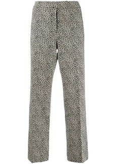 MICHAEL Michael Kors cropped leopard print trousers