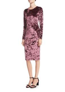 MICHAEL Michael Kors Crushed Velvet Long-Sleeve Dress