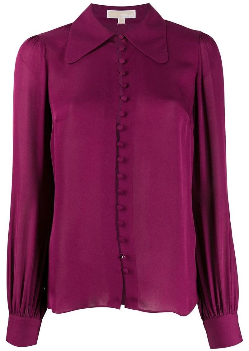 MICHAEL Michael Kors curved hem blouse