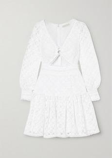 MICHAEL Michael Kors Cutout Corded Lace Mini Dress