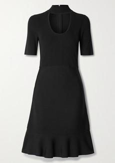 MICHAEL Michael Kors Cutout Ribbed Stretch-knit Mini Dress