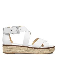 MICHAEL Michael Kors Darby Leather Espadrille Platform Sandals