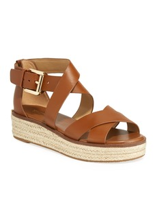 MICHAEL Michael Kors Darby Leather Flatform Espadrille Sandals