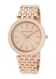 MICHAEL Michael Kors Darci Rose Golden Crystal Bracelet Watch
