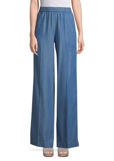 MICHAEL Michael Kors Cropped Wide-Leg Tencel Pants
